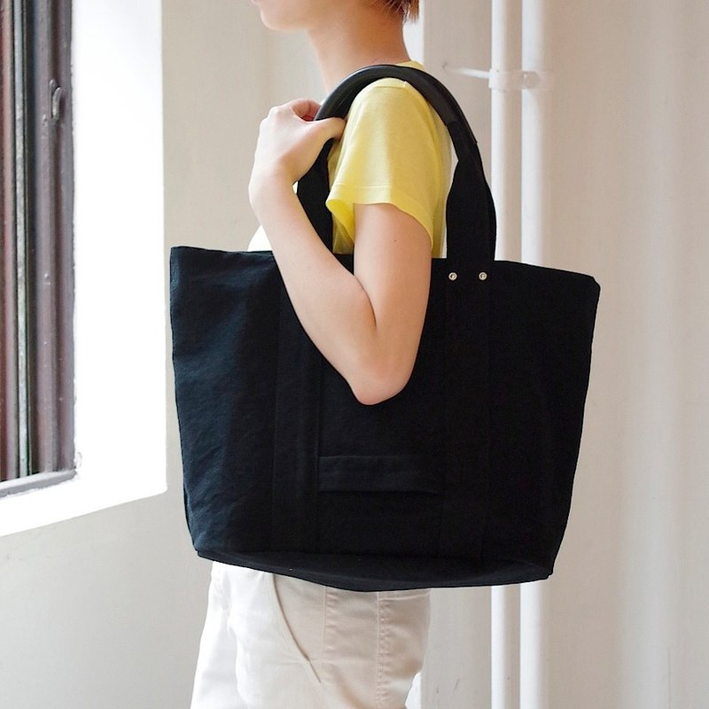 Kurashiki canvas tote bag - Handsome black