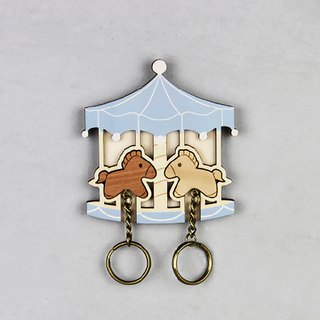 Key House Carousel < Customizable Storage Decoration Gift X'mas >