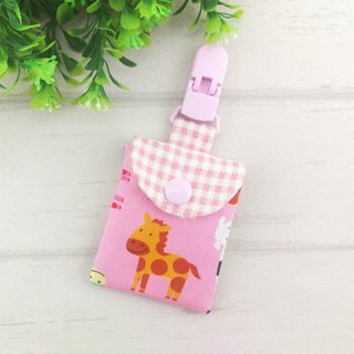 Q version pink pony. Ping Fu bag (can increase 40 embroidered name)