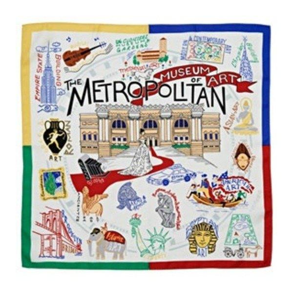 美國大都會博物館方領巾