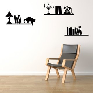 Smart Design Creative wall stickers Incognito ◆ shelves and cats (8 colors)