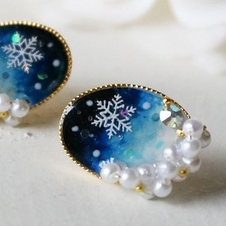 """14kgf"" ​​* snow falling dawn earrings *"