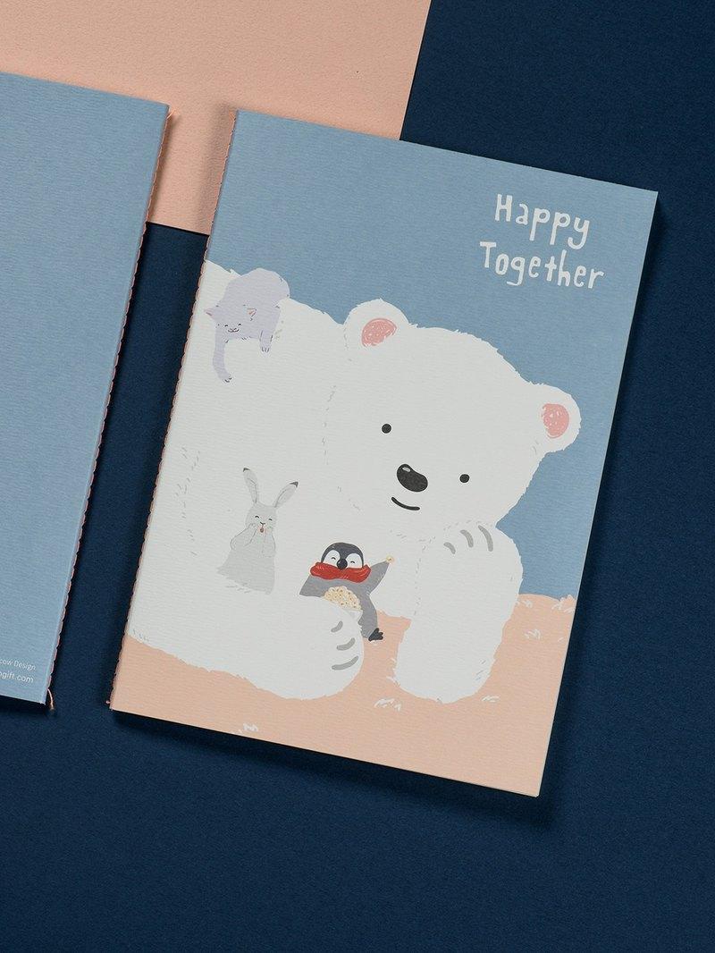森日禮 懷特熊系列筆記本 在一起, 做什麼都好 厚禮牛設計