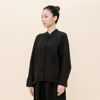 BUFU  Chinese-style unisex embroider with embroidery/black  SH170806