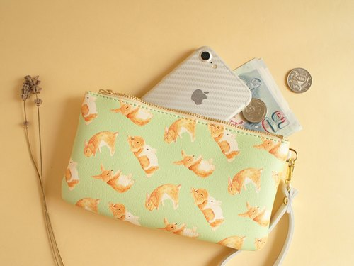 Bunny Bunny Purse Clutch Storage bag wallet Passport package Mobile phone package