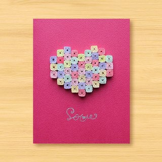 Handmade Roll Paper Card _ Dream Mosaic Love... Valentine Card, Mother Card, Wedding Card