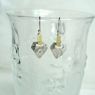 Tin earrings · Triangle