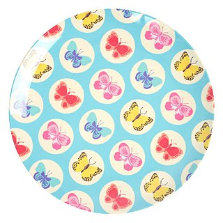 Butterfly 6.5-inch dinner plate - blue