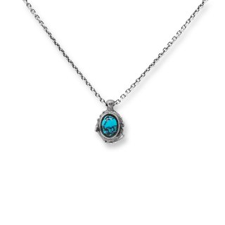 Turquoise Necklace Withered Branch Series 925 Silver Handmade Silverware