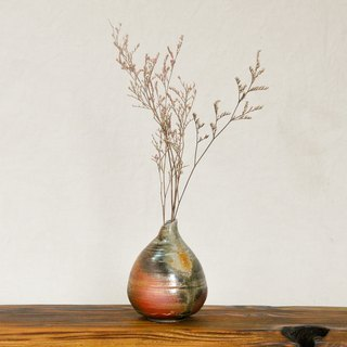 Wood fired pottery. Water droplet type flower vase vase