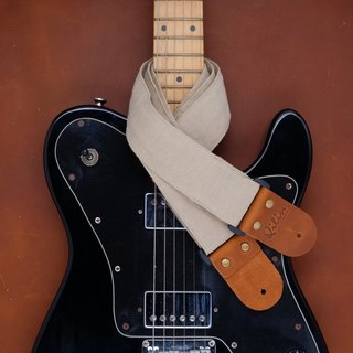 Beige Denim Guitar Strap