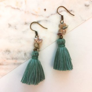 Vintage Jurassic Tassel Earrings Ear Hook / Ear Clip