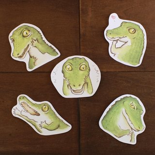 Meng Meng crocodile waterproof stickers