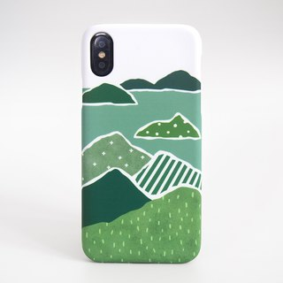 Torn Paper Landscapes iPhone case