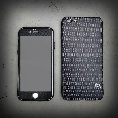 "FLAME ""Men In Black"" Carbon totem stylish black cabinet X Full Screen Protector combination"