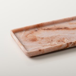 Marble。Tray。Rectangle。Pink