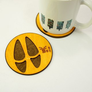 Animal footprints coaster - sika deer