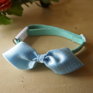 """Mediterranean blue"" Shuiyu little bow ribbon ︱ safe hands to do cats and dogs pet collars cherry pudding Cherry Pudding ♥ ♥"