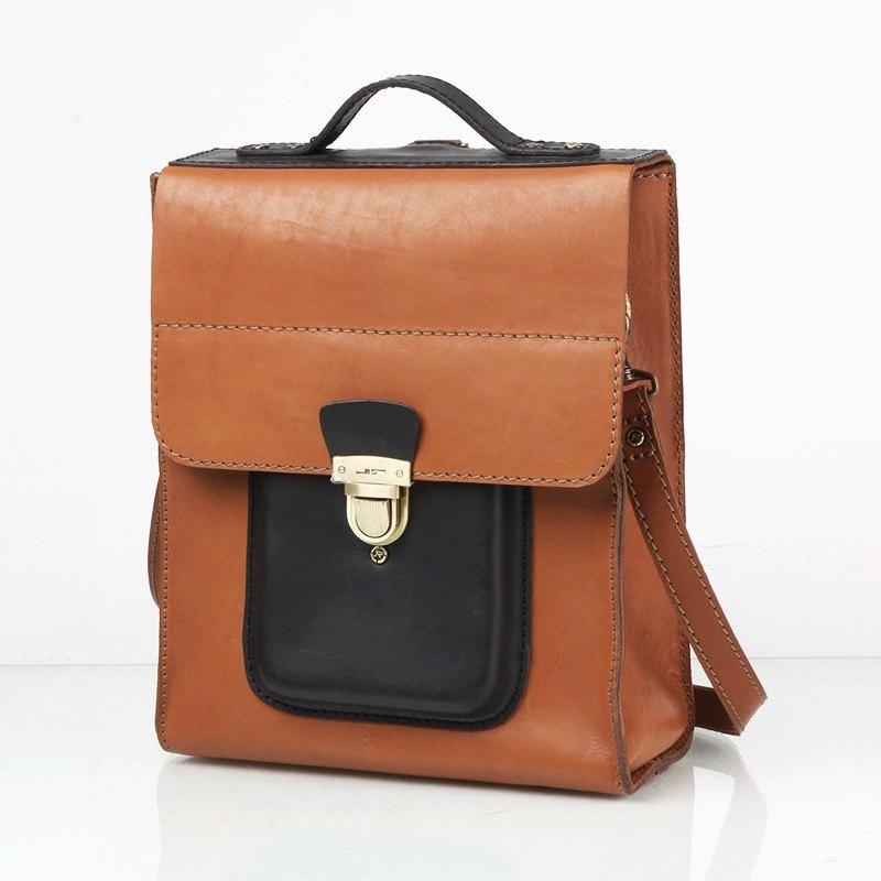 02a111bd481 JIMMY RACING Manton Business Manager Leather Handle Shoulder Messenger  Backpack Shoulder Bag B148S-BCL