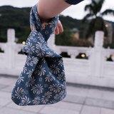 小菊 森女系文藝復古中古男女手提棉麻輕便小手包午餐包環保布袋