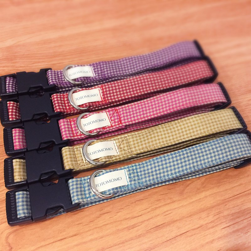 5-color square dog collar