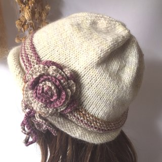 Small flower warms a lifetime parent-child wool hat (Mummy models)