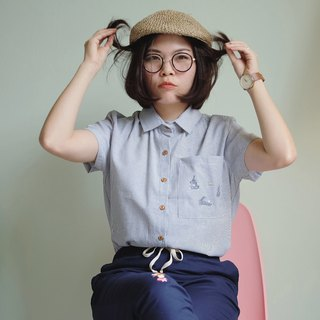 Rabbit Moon Shirt : Stripe