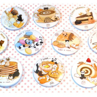 Dessert animal badge (single sale)