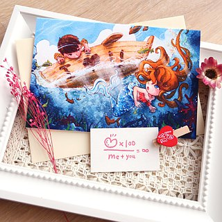 【Pin】I Love U│Print│Valentine's day card with envelope at your choice
