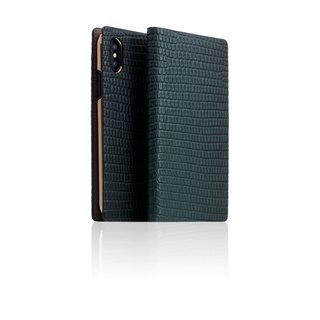 SLG Design iPhone Xs / X D3 ILL Classic Lizard Side Leather Leather Case - Green