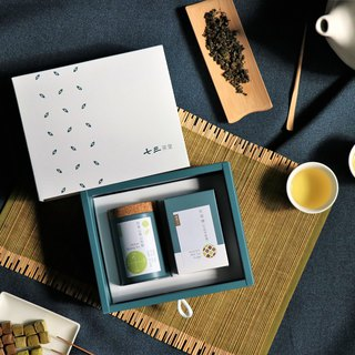 Taiwan Tea & Snack Gift Box-1 Regular Tea Can + 1 Box of Milk Tea Fudge