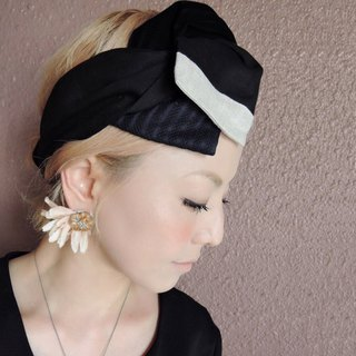 RATA original turban black simpe style【Japan】