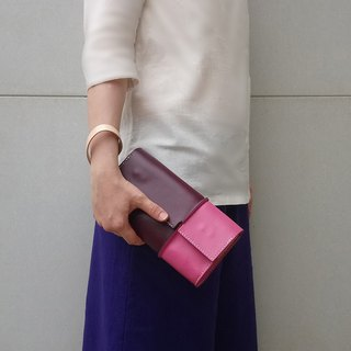 Touch-two-color stitching clutch