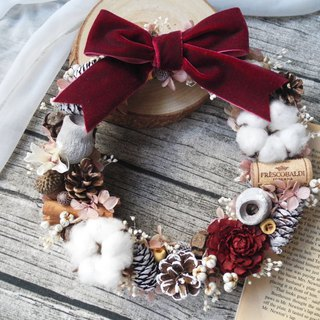 Christmas limited red christmas wreath