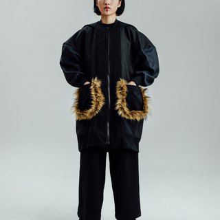 Alan Hu 2017 A / W and hooded coat
