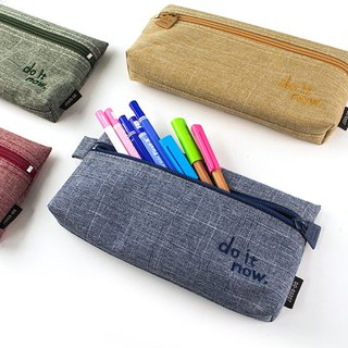 Long flat pencil case / student stationery / snow cloth pen case -do it now.