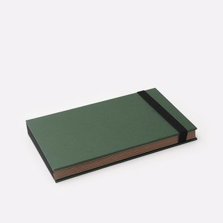 Three summer light years classic solid color strap books section DIY album creative gifts small rectangular (dark green)