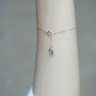Eye shaped sky Topaz cordierite bracelet