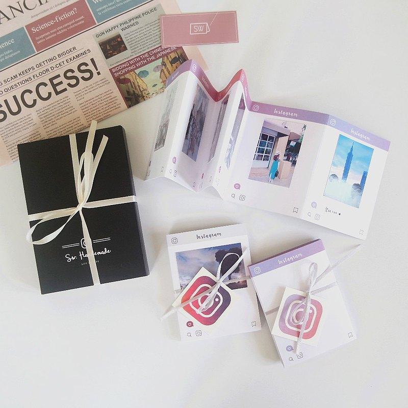 現貨 / IG Instagram 造型摺疊小冊-套裝禮盒組 / 生日 手工卡片