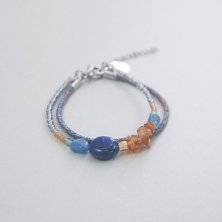 Go Out for summer Blue Sodalite Citrine Rope Crystal Gemstone Bracelet