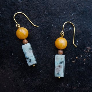 Topaz Marble Earrings - Clip-On Earrings