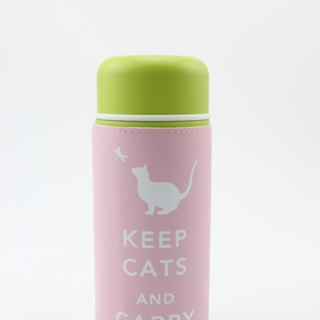Keep Cats & Carry On Tumbler Travel Mug- Pastel Pink