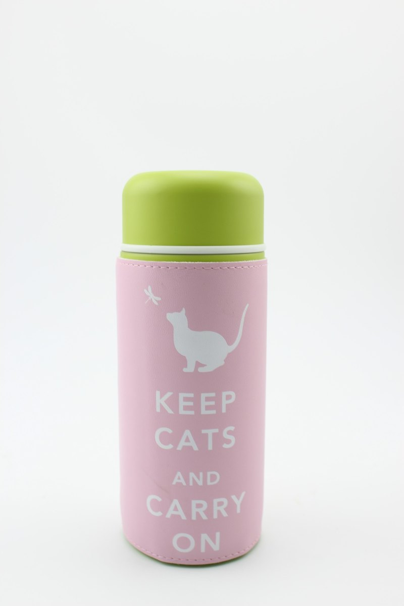 """""""Keep Cats & Carry On""""旅行保溫杯- 粉紅"""