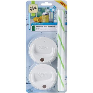 Ball standard accompanying cup cover set (4 in) - white wide mouth