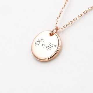 Customized Small Round Necklace - Gold - Silver - Rose Gold - Upgraded Laser Lettering