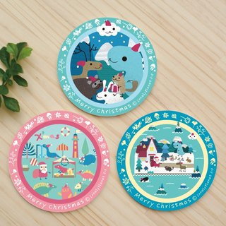 [Christmas / Arrival] Christmas party gift pack - water coaster // individually wrapped + Christmas label