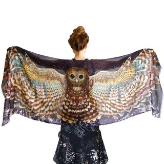 Night Owl Scarf - cotton