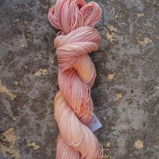 Hand-dyed lines. Plum bubble water (cotton / Merino)