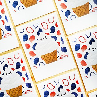 Postcards / Graphic Cards | Ice Cream for the Ghost Series