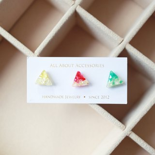 Summer Series - Tri-Color Shaved Ice Earrings Ring Set